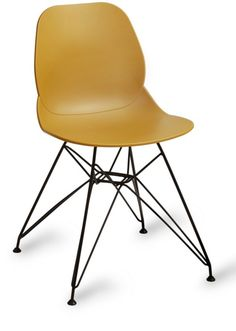 Cafe chair With Black Wire Work Base. Cafe Chairs Online