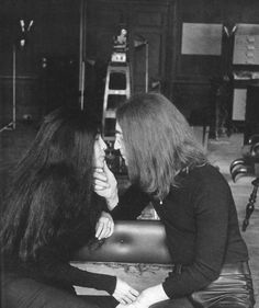 whatever you want to say about yoko.... there is no denying the love between her and john  cdx