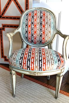 Chair in entry of Hampton Designer Showhouse 2012