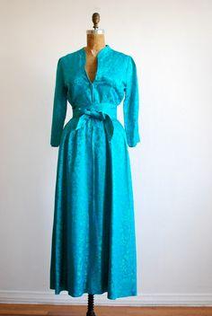 vintage 1940s dress evening satin 40s obi by thegreedyseagull, $98.00