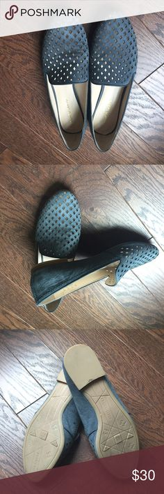 Shoes Beautiful blue leather shoes, never worn. Franco Sarto Shoes Moccasins