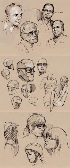 Heads_Como desenhar cabeça                                                                                                                                                                                 Mais