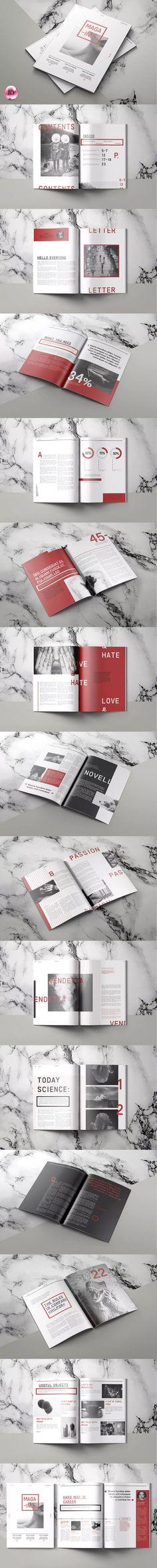 Modernist Magazine Template InDesign INDD A4