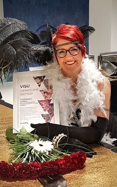 Kyläkaupan visualisti Marjo Koskelalle Visu Awards 2016 -palkinto