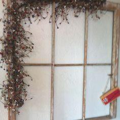 Old wood window as wall art