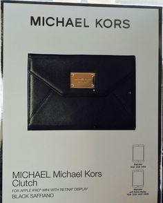 Michael Kors Black Saffiano Clutch iPad Mini 1 2 3 4 Wallet Stand Case Nice | eBay