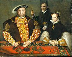 Portrait of Henry VIII, Will Somers and Mary Tudor. Will appears in at least two other portraits with the king, demonstrating how important he was to Henry VIII.