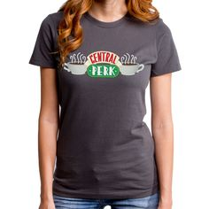 Friends Central Perk (FRI0026-102CHR) Women's T-shirt. Friends TV show, New York, NYC, Chandler, Ross, Monica, Phoebe, Rachel, Joey, cafe. by GoodieTees on Etsy https://www.etsy.com/listing/233487038/friends-central-perk-fri0026-102chr