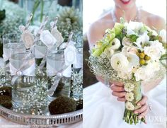baby's breath can really be elegant in bouquets and as table accents