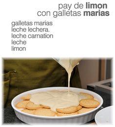Pay de Limon con Galletas Marias .El Clasico con Leche Carnation y Lechera