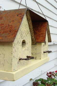 Recycled Industrial Chic Beach Birdhouse Rustic by baconsquarefarm, $45.00