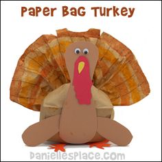 thanksgiving turkey colored pencils | Thanksgiving Turkey Napkin and Silverware Holder Craft