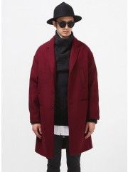Neil Drop Shoulder Oversized Woolen Coat