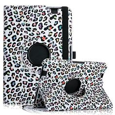 "myLife White, Red and Blue {Animal Print Leopard Rainbow Spots Colorful Wild Cat} 360 Degree Rotating Case for Amazon Kindle Fire HD 8.9 (High Quality Koskin Faux Leather Cover + Slim Lightweight Design) ""All Ports Accessible"" myLife Brand Products http://www.amazon.com/dp/B00TQ5WQ1G/ref=cm_sw_r_pi_dp_Krfdvb16DX1BC"