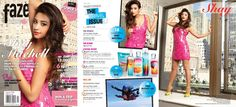 Shay Mitchell featured on the cover and inside pages of Faze Magazine in THEIA  #pll
