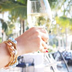 Cheers to the weekend!  Preppy, fashionable arm candy!  Www.islecoast.com