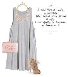 """""""See Beauty in Everything"""" by pastelsummer ❤ liked on Polyvore featuring H&M, Apt. 9 and RED Valentino"""