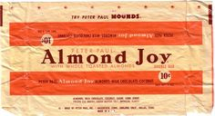 1940s Almond Joy Candy Wrapper