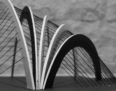 Suspended Cable structure study model