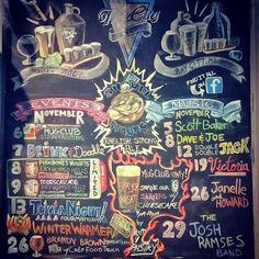 November Chalk Board at Tri-City Brewing Company.