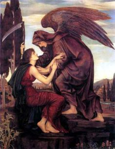 Archangel of Death is by Evelyn de Morgan, English Pre-Raphaelite painter. With black wings and no halo Archangel Azrael represents death and rebirth in Islamic tradition and folklore. Calling All Angels, Angels Among Us, Angels And Demons, Fallen Angels, Angel Of Death, Film Constantine, Samael Angel, Archangel Azrael, Archangel Raguel