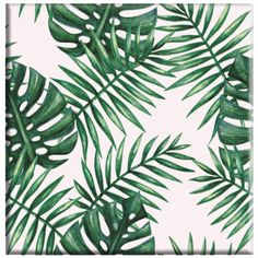 Illustration about Watercolor tropical palm leaves seamless pattern. Illustration of green, leaf, colorful - 66068334 Tropical Art, Tropical Leaves, Tropical Plants, Jungle Images, Leaf Stencil, Palm Tree Leaves, Leaf Background, Leaf Art, Wall Art Designs