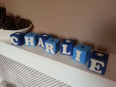 Real wood building blocks 6cmx6cmx6cm Lots of colours and shapes available to make these perfect personalised gifts