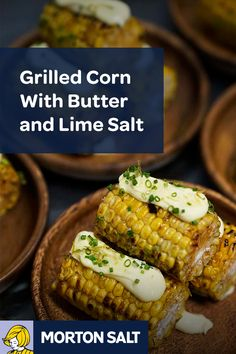 Grilled Corn With Butter and Lime Salt recipe // Morton® Coarse Sea Salt provides a nice contrast to the bitter citrus flavor within the lime, while also providing a pop of flavor and added crunch.