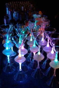 Color Changing Light Up Spiral Stem Glasses set the mood at dinner parties, receptions, bars, any kind of special event! Make a toast with your Light Up Martini Glass and make it a night to remember. FBL has them for you here! http://www.flashingblinkylights.com/light-up-martini-glass-with-long-spiral-stem.html
