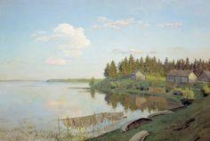 Исаак Ильич Левитан.  На озере (Тверская губерния).  1893.