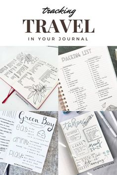 A collection of creative travel trackers for your journal or planner. Find more inspiration at lifebywhitney.com!