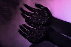 hands, black, and stars kép