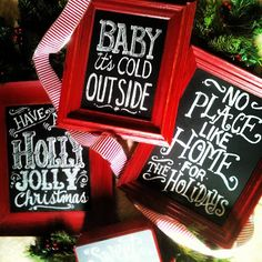 #Chalkboard #Art for the Holly Jolly Days!