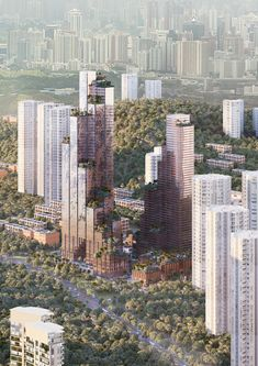 Image 4 of 14 from gallery of Mecanoo Reveals Konka Mixed-Use Inspired by Historic Chinese Towns. Konka Mixed-Use. Image Courtesy of Mecanoo China Architecture, Architecture Images, Information Architecture, Commercial Architecture, Architecture Office, Futuristic Architecture, Green Terrace, Chinese Buildings, Commercial Complex