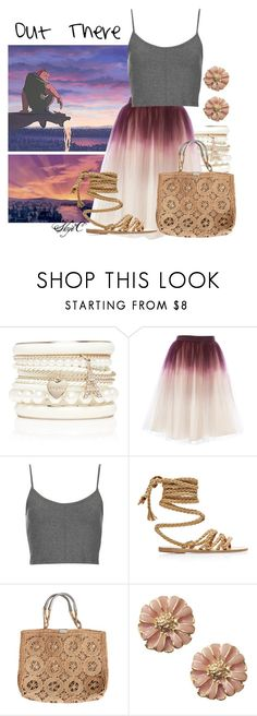 """""""Out There - Disney's Hunchback of Notre-Dame"""" by rubytyra ❤ liked on Polyvore featuring Forever New, Topshop, Ancient Greek Sandals, disney, disneybound, hunchbackofnotredame and disneysong"""
