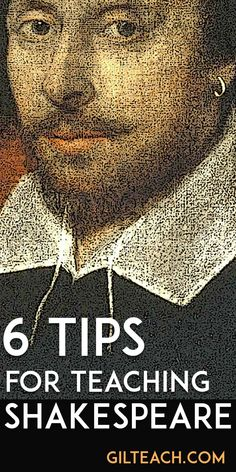6 Tips for Teaching Shakespeare - The Shakespeare unit is a highlight for my students. It wasn't always that way, and I have learned a lot over the years about how not to teach the Bard. English Teaching Resources, Reading Resources, Teaching Strategies, Teaching Poetry, Teaching Kids, Essay Layout, Found Poetry, Learning For Life, British Literature