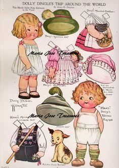 Dolly Dingle visits Tyrol Paper Dolls - Digital Download