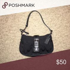Small Coach Clucth. Dust bag is included. Black Coach Clutch Coach Bags Clutches & Wristlets