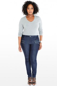 Plus Size Gianna Ankle Zip Skinny Jeans | Fashion To Figure
