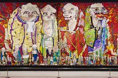 【展覧会リポート】すべて日本初公開! 村上隆の五百羅漢図展 | casabrutus.com