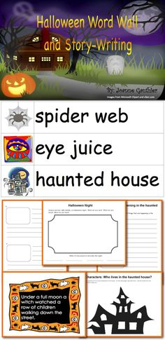This Halloween resource includes 4 mini-activities that lead up to students writing their own Halloween story, 18 story starters for writing/telling further Halloween stories and an illustrated word wall to help with adding detail and description.