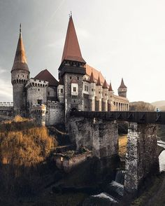 You don't have to live here alone. Take your valentine with you!  Corvin Castle, Romania.  We came right in time to catch the last rays of the golden sun before this castle turned into a mystic Transylvanian fairytale.
