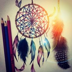 Dreamcatcher drawing! Perfect!