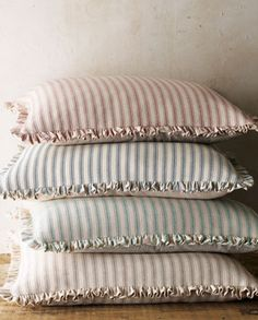 French Laundry Home Bird Bed Linens Ticking-Stripe European Sham $110 from Houzz