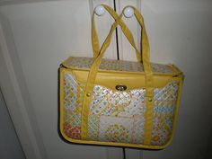 GERBER VINTAGE 70'S 80'S RETRO BABY YELLOW FLORAL HEARTS DIAPER CARRIER BAG | eBay
