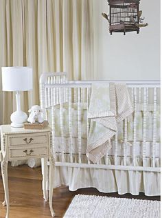 With a more modern feel, this could be an adorable nursery for a baby girl.  Vintage meets modern.