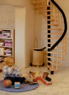 MINI DESIGN 1:24 spiral staircase tutorial