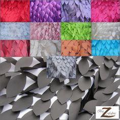 Leaf Style Taffeta Fabric