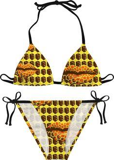 66cbfbf7a7 Honeybunny sweet lips pattern bikini