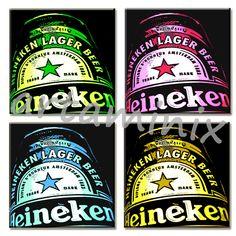 Heineken beer pop art